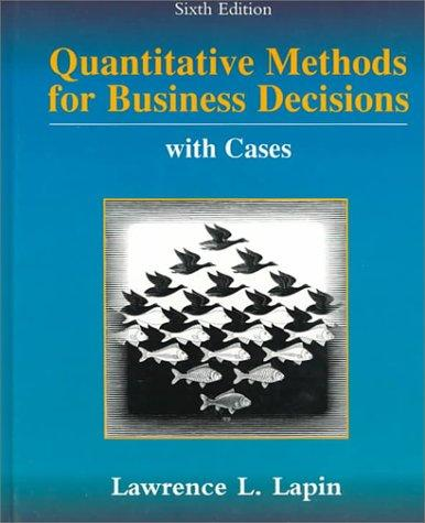 Download Quantitative Methods for Business Decisions