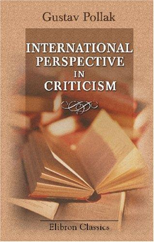 International Perspective in Criticism