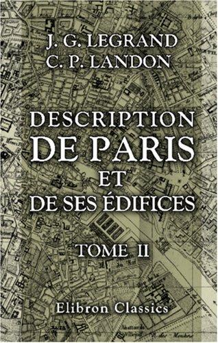 Download Description de Paris et de ses édifices