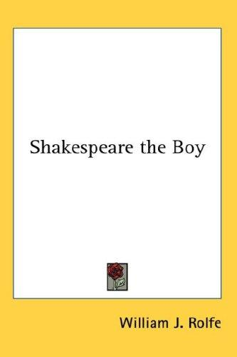 Shakespeare the Boy