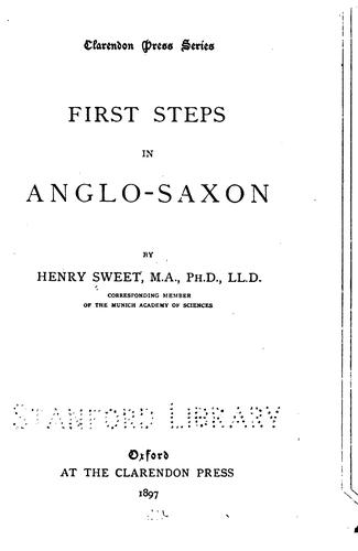 Download First steps in Anglo-Saxon