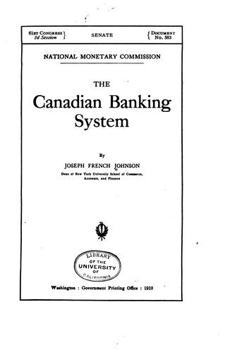 Download The Canadian banking system