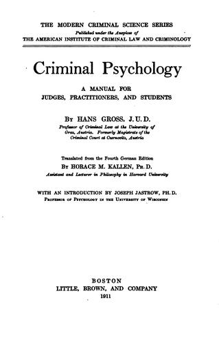 Download Criminal psychology