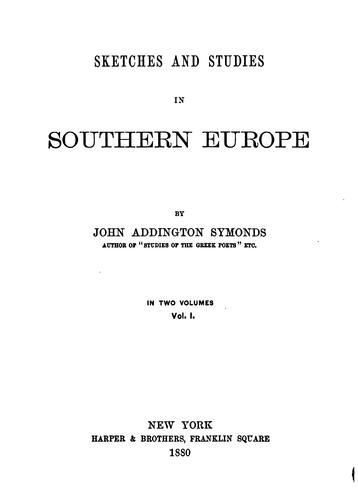 Download Sketches and studies in Southern Europe