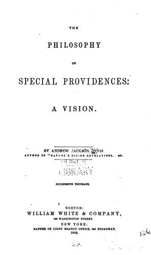 The philosophy of special providences
