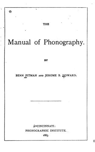 Download The manual of phonography
