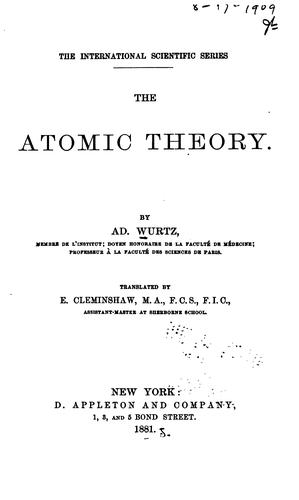 The atomic theory.