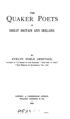 Download The Quaker poets of Great Britain and Ireland