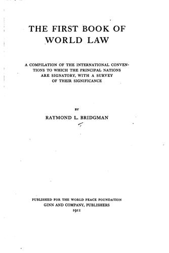 Download The first book of world law