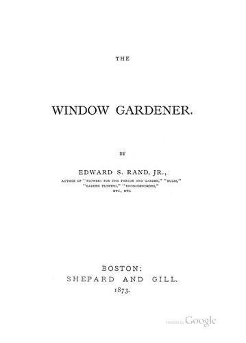 Download The window gardener.