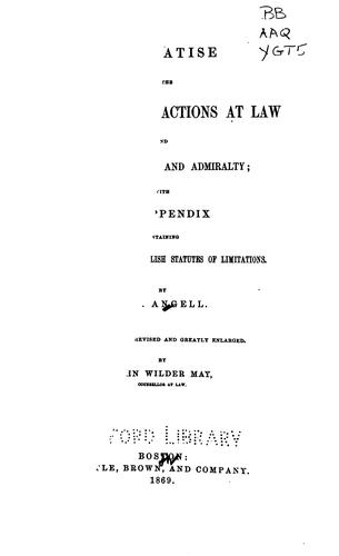 Download A treatise on the limitations of actions at law and suits in equity and admiralty