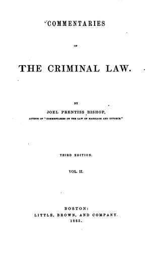 Download Commentaries on the criminal law
