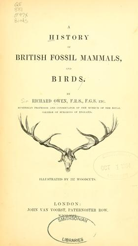 Download A history of British fossil mammals, and birds.