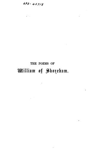 The poems of William of Shoreham