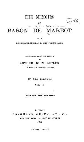 Download The memoirs of Baron de Marbot