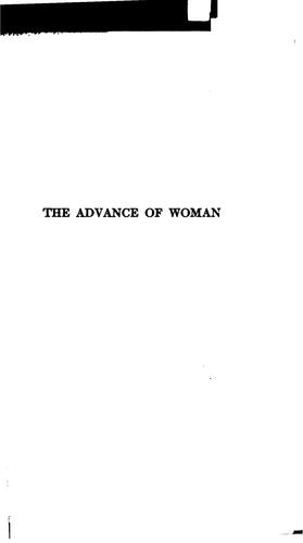 Download The advance of woman from the earliest times to the present