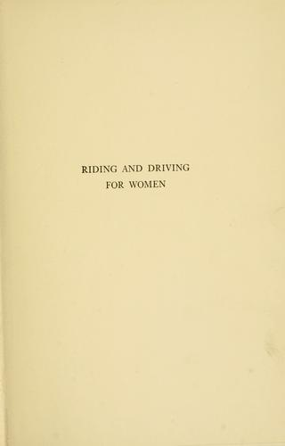 Download Riding and driving for women