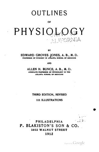 Download Outlines of physiology