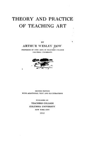 Theory and practice of teaching art