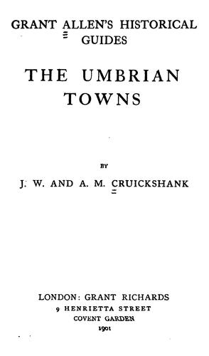Download The Umbrian towns