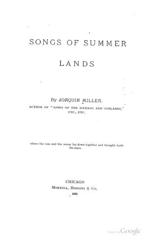 Songs of summer lands