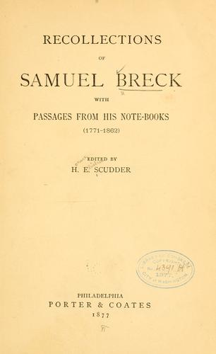 Download Recollections of Samuel Breck