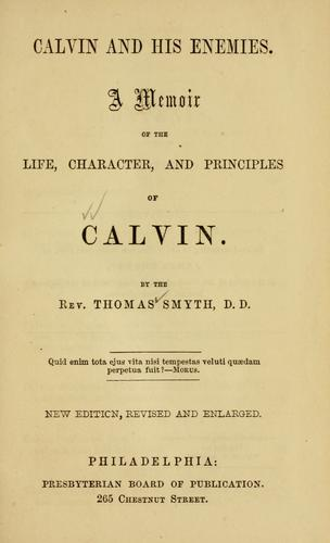 Download Calvin and his enemies.