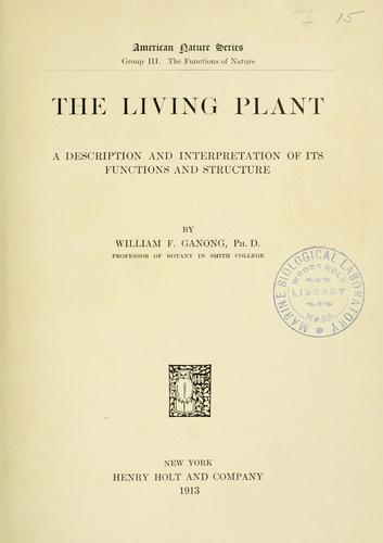 Download The living plant
