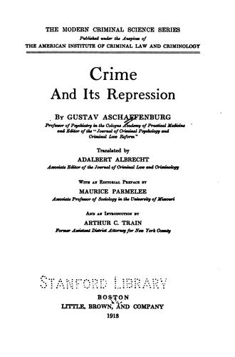 Download Crime and its repression
