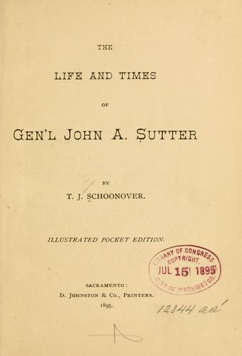 Download The life and times of Gen'l John A. Sutter