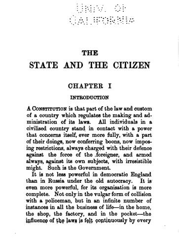 Download The state and the citizen