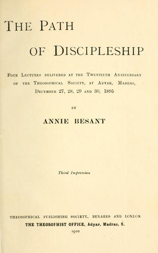 Download The path of discipleship