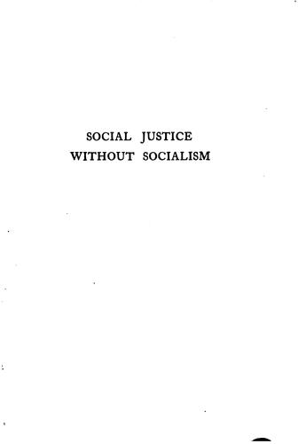Download Social justice without socialism