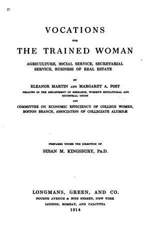 Download Vocations for the trained woman