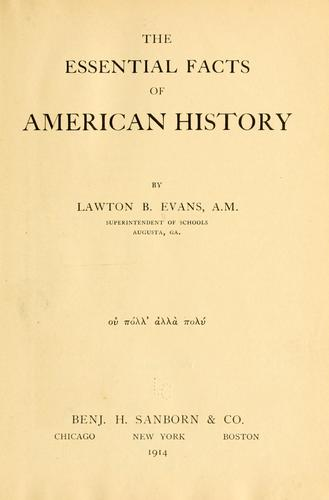 The essential facts of American history