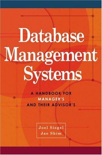 Database Management Systems by Jae K. Shim