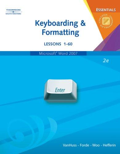 Keyboarding and formatting essentials by