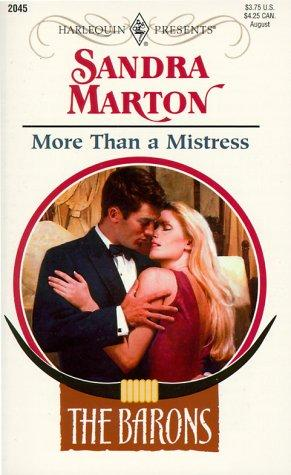 MORE THAN A MISTRESS by Marton