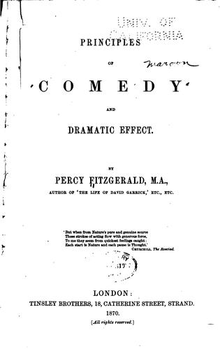 Principles of comedy and dramatic effect.