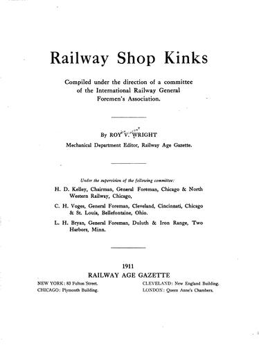 Railway shop kinks by Wright, Roydon Vincent
