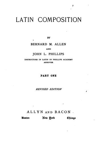 Latin composition by Allen, Bernard M.