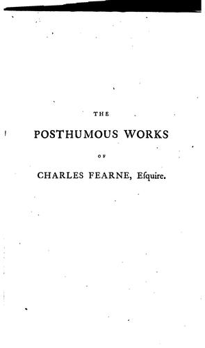 The posthumous works of Charles Fearne, Esquire, barrister at law by Charles Fearne