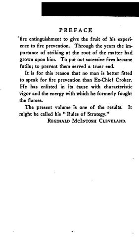 Fire prevention by Edward Franklin Croker