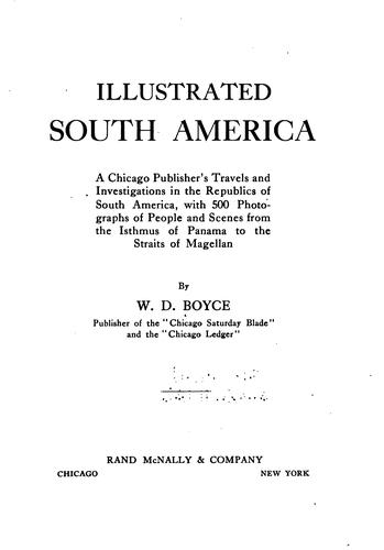 Illustrated South America by William Dickson Boyce