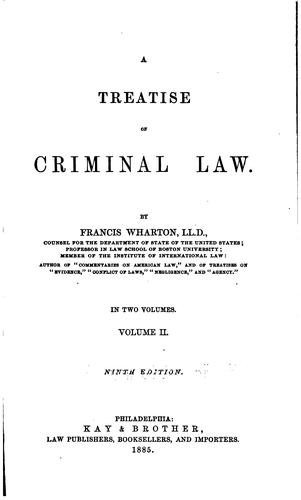 A treatise on criminal law