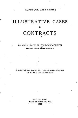 Illustrative cases on contracts