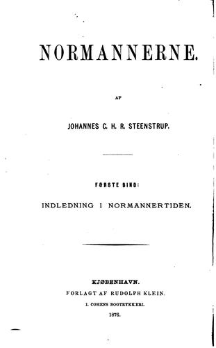 Normannerne by Johannes C. H. R. Steenstrup