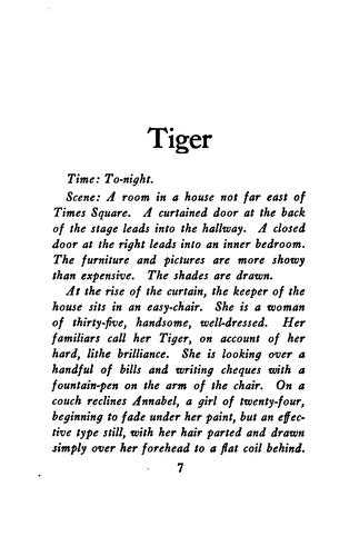 Tiger by Witter Bynner